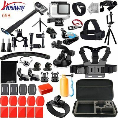 Husiway Accessories Kit for Gopro Waterproof Housing Set for Black Camera 55A