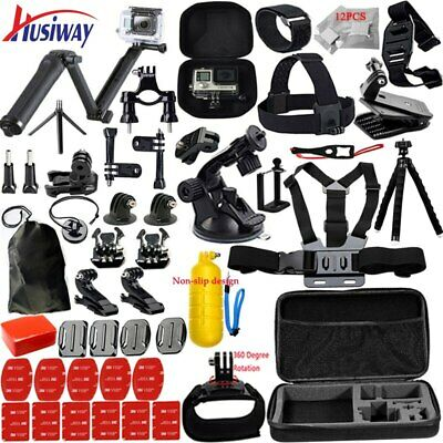 Husiway for Gopro Accessories set for go pro hero 5 4 3 kit mount for xiaomi 4K