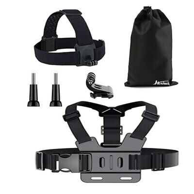Husiway accessories Set for Gopro Chest Wrist head strap kit for EKEN / xiaoyi