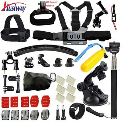 Husiway for Gopro accessories Set  Head Mount Strap Black Edition set kit 06C