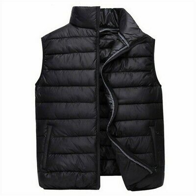 Men Puffer Waistcoat Warmer Gilet Quilted Padded Vest Top Warm Sleeveless Casual