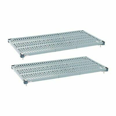 Metro Max Q Shelves - Epoxy Coated - Removable Mats - 1830(W) x 460(D) mm - 2 pc