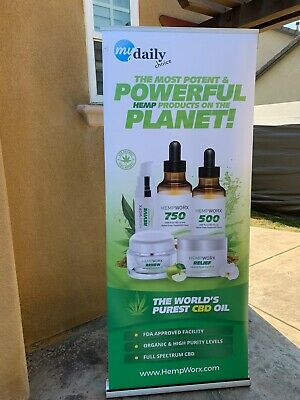 HEMPWORX Business Display Sign / Booth My Daily Choice Marketing Tool