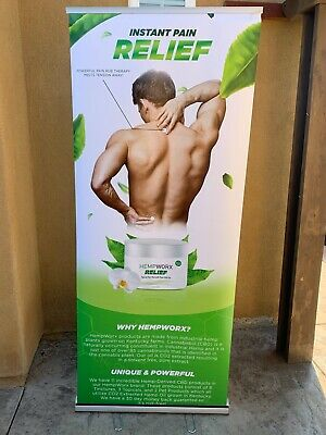 HEMPWORX Business Display Sign / Booth My Daily Choice Marketing Tool Stand