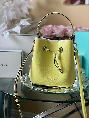 Authentic Kate Spade Small Bucket Bag In The Color Limelight New With Tags (Eva)