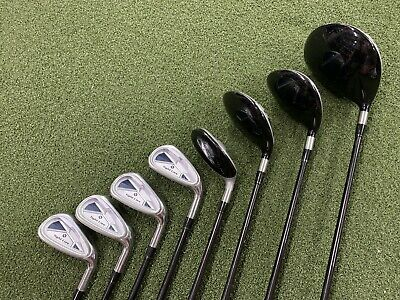 Adams Tight Lies Club Set Driver 3 & 5 Fairway 5 Hybrid 6-9 Irons Light Flex RH