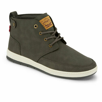 Levi's Mens Atwater Waxed Synthetic Leather Casual Lace-up Hightop Sneaker Boot