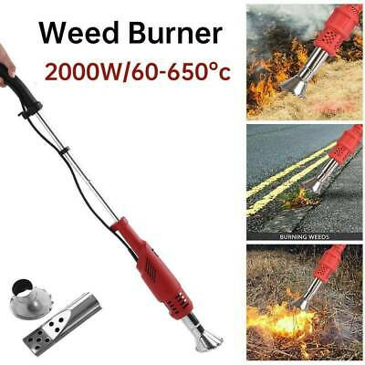 2000W Electric Weed Burner Garden Weed Killer Remover Air Blaster Torch 60-650°