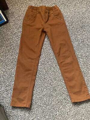 Boys Chino Trousers  Age 7-8 Y Denim  Brown / Ginger