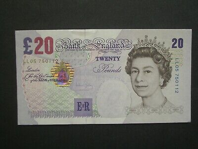 ***GB £20 'EF' Replacement** Bailey 'LL05' 2004 Banknote**
