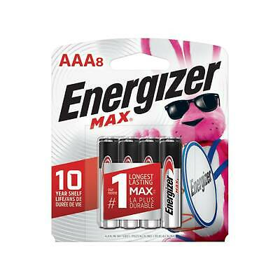 Energizer E92 Max AAA Batteries 8 Pack