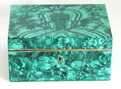 Superb Rare Large Antique 19Th Century Malachite Box / Casket – Russian