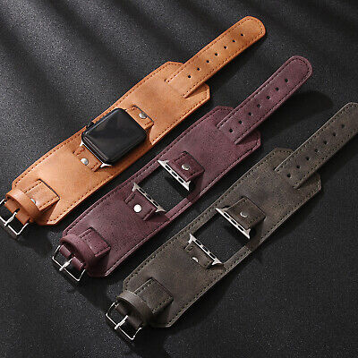 For Apple Watch 40/44mm Genuine Leather Band Strap iWatch Series 5 4 3 2 38/42mm
