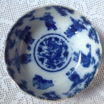 Early 19th Century Fine Porcelain Japanes Bowl,, Hand Decorated Under Glaze. Vgc