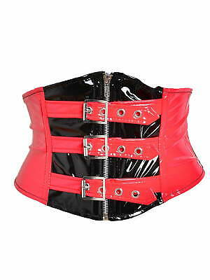 Killer Corsets PVC Buckle Waspie Belt in Red