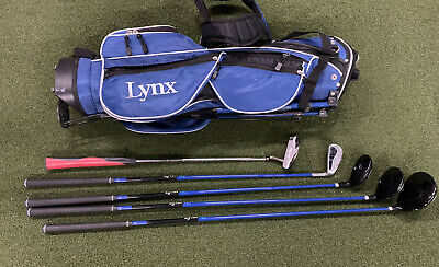 Lynx Golf Junior Club Set Driver Fairway Hybrid Iron Putter & Bag RH - Youth