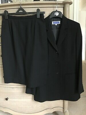 Ladies Austin Reed Black Wool Suit Skirt Jacket Size 10 8 00 Picclick Uk