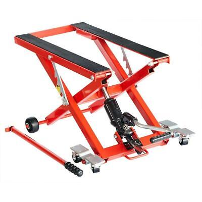 Bickers Solid Hydraulic Easy Use Motorcycle and Atv Lift 1100lbs Capacity Stand