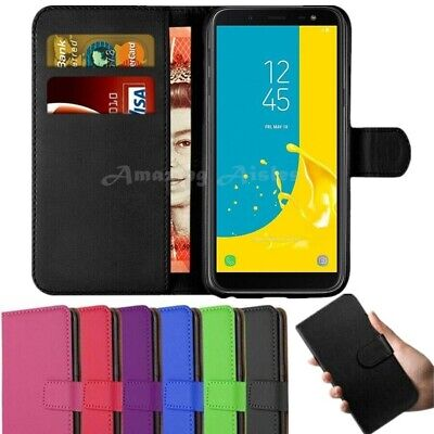 Case for Samsung Galaxy J1 J3 J5 J6 Cover Flip Wallet Leather Magnetic Luxury