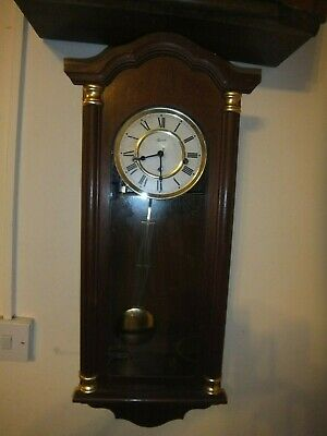 HERMLE Vintage German Wooden Westminster Chime Wall Clock