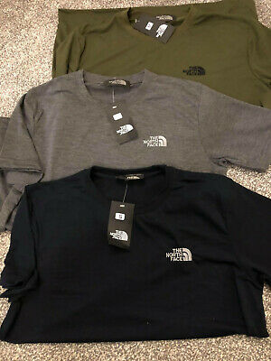 Mens North Hiking Lesuire TShirt Top face in khaki green Navy Grey size S M L XL