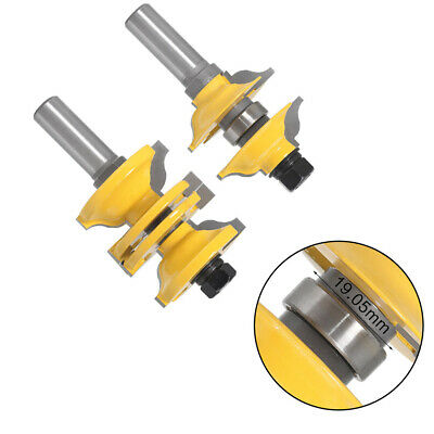 2 Pcs 1/2 Inch Shank Entry Interior Door  Matched  Router Bit Set