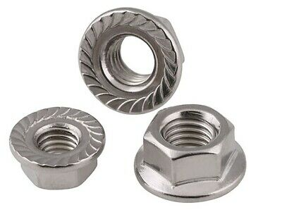 A4 Marine Grade Stainless Steel Hexagon Flange Nut Hex Serrated Nuts Flanged