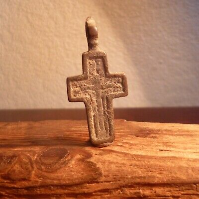 Late Or Post Medieval Byzantine Style Cross-Uncleaned-Metal Detecting Find
