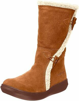 Rocket Dog Slope Womens Ladies Brown Mid Calf Warm Lined Winter Boots Size 4-8