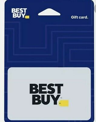 New $100 BEST BUY GIFT CARD - THROUGH MAIL Only not scratched