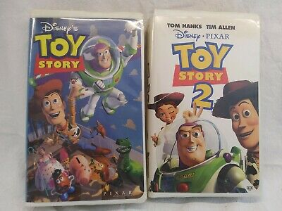 VHS Toy Story movies 1 and 2 bundle