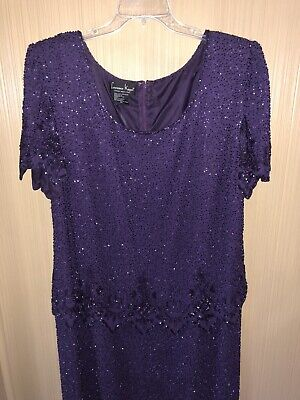 Women's Plus Size Formal Laurence Kazar Beaded Mother Of The Bride Dress Size 2X