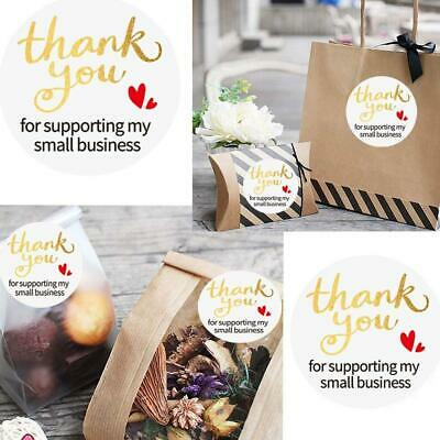 Best 500x Thank You for Supporting My Small Business Stickers Gold Foil Seal