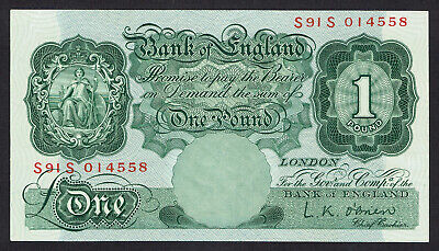 🌟 Gb O'brien £1 One Pound Note B274 Banknote - Replacement - High Grade