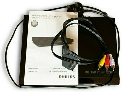 Philips DVP2800 SCART DVD player users manual remote