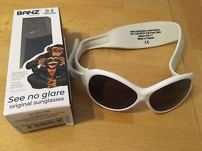 baby banz sunglasses 0-2 years retro oval white 100% UV protection