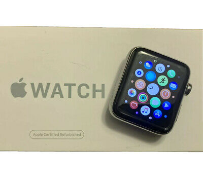 Apple Watch Series 2 42mm Stainless Steel Case White Sport Band - (MNPR2LL/A)