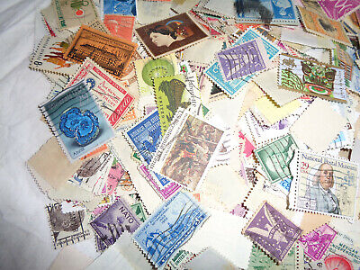 4Oz. US Stamps Used Off Paper, Collections, Lots