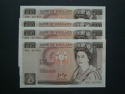 **Superb GB 'AUNC' Page £10 1st Series 1975 Banknote*4 available**