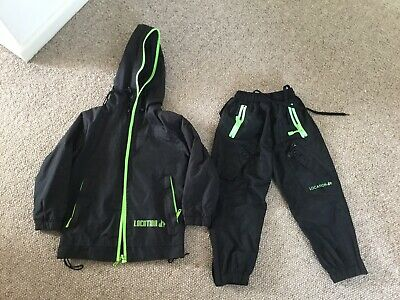 Boys Lined Waterproof Set (aged 3-4 Years ? See Measurement Pic)