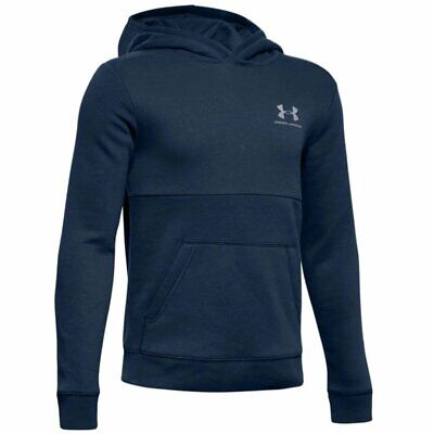 Under Armour boys EU Cotton fleece hoodie in navy. Sweat top. Various sizes!