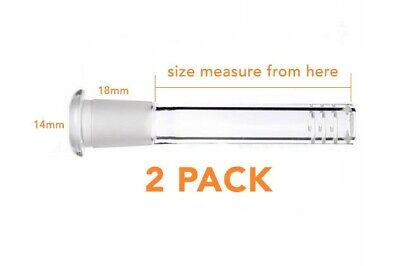 """2 PACK Scientific Glass Downstem Diffuser 14MM To 18MM 3"""" To 5"""""""