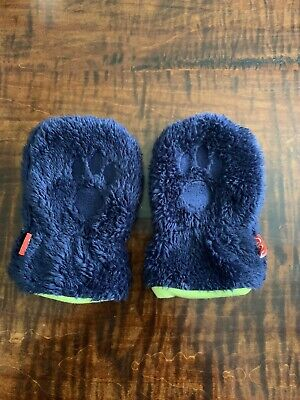 Magnetic Me Blue Fleece Gloves Mittens Size 6-12 Months