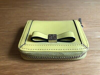 Coccinelle leather yellow purse never used