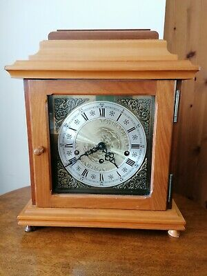 Vintage Mahogany large square Westminster chime mantel clock working
