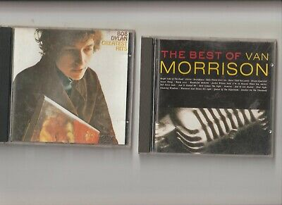 Van Morrison : The Best Of + Bob Dylan : Greatest Hits  / TWO CD Albums