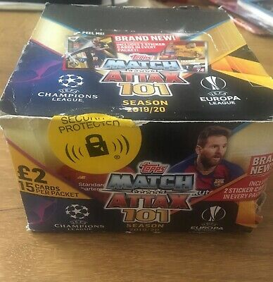 New Match Attax 101 2019/20 Full box 24 Packets15 cards per pack