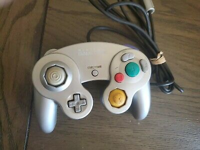 Official OEM Nintendo Gamecube Controller Platinum Silver TESTED SHIPS FAST!
