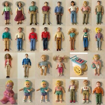 FISHER PRICE Loving Family Dollhouse MOM MOTHER LADY GREEN SHIRT PURPLE PANTS