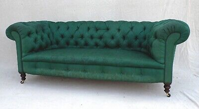 LARGE VICTORIAN EDWARDIAN ANTIQUE CHESTERFIELD SOFA c1890